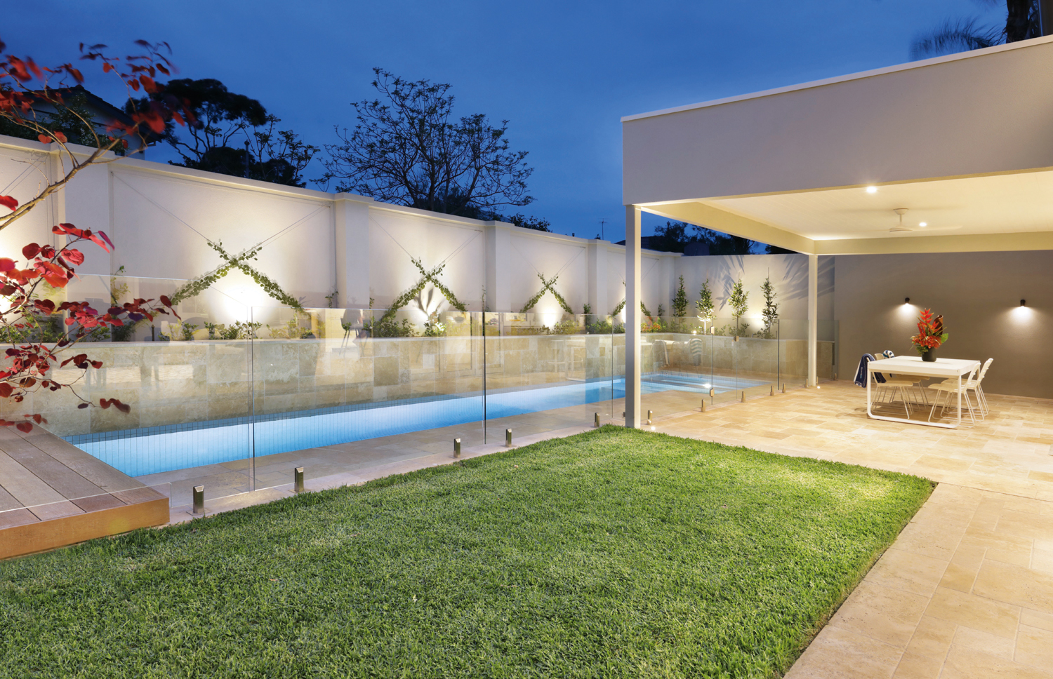 A super-stylish lap pool and spa design in Melbourne's Bayside