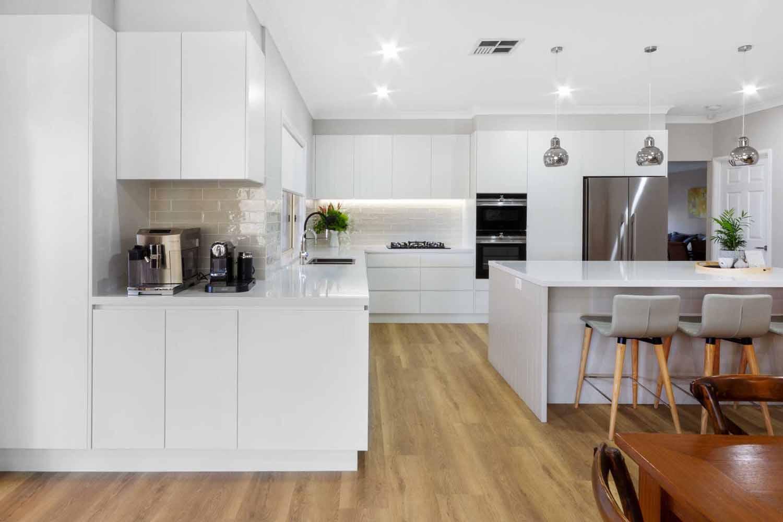 Modern Kitchen Design Sydney White Kitchen Bosch Fisher Paykel Dulux Silestone Siemens Zip Tap 4