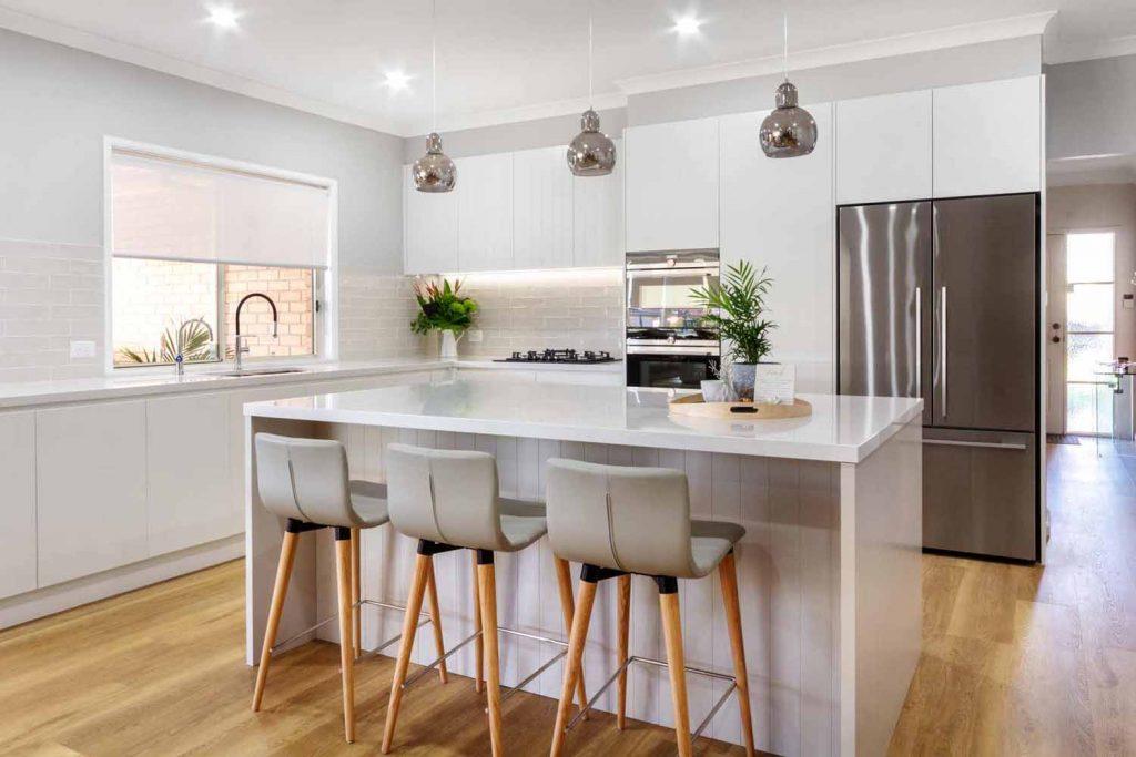 Modern Kitchen Design Sydney White Kitchen Bosch Fisher Paykel Dulux Silestone Siemens Zip Tap 1