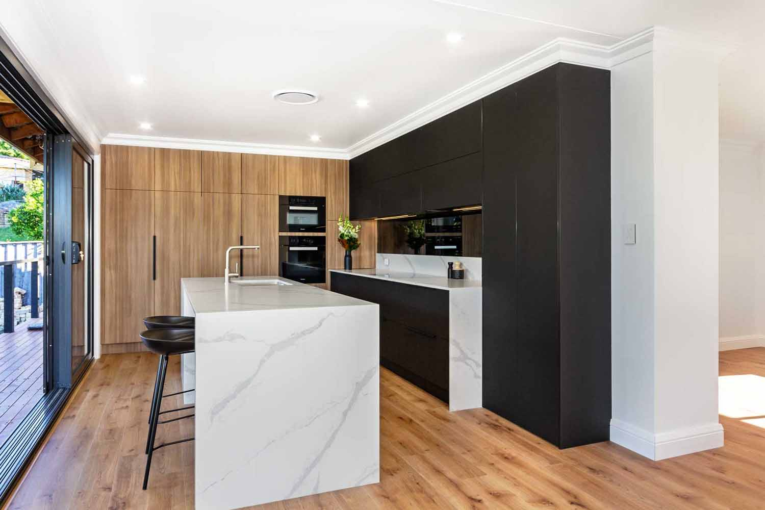 Kitchen Design Sydney Contemporary Black White Timber Miele Fisher Paykel Dulux 2