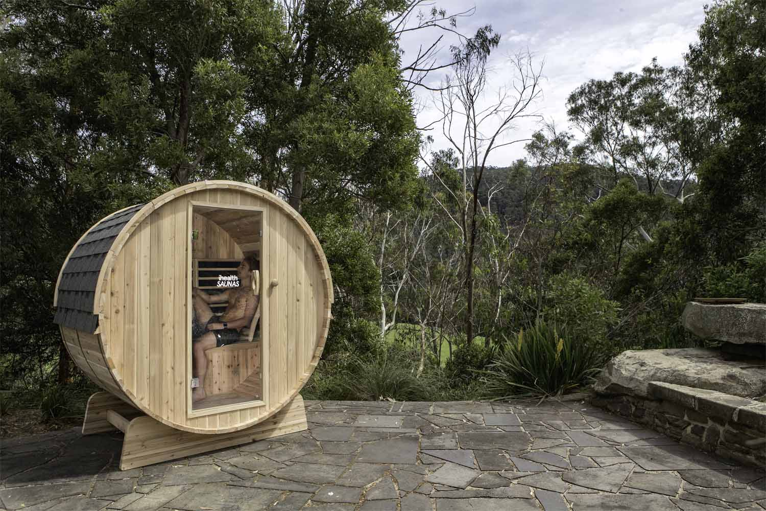 Ihealth Outdoor Barrel Sauna 3