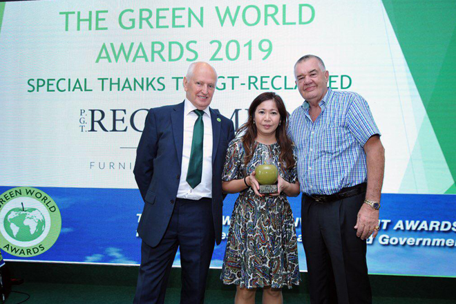 Gold for PGT-Reclaimed: International Winner of Sustainability at the Green World Awards