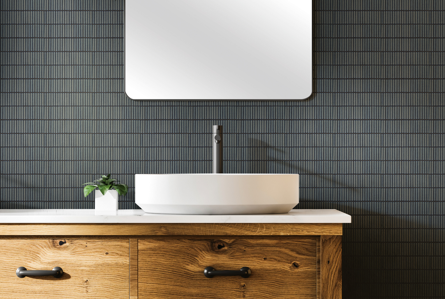These sleek asian-influenced tiles are the ultimate in visual harmony