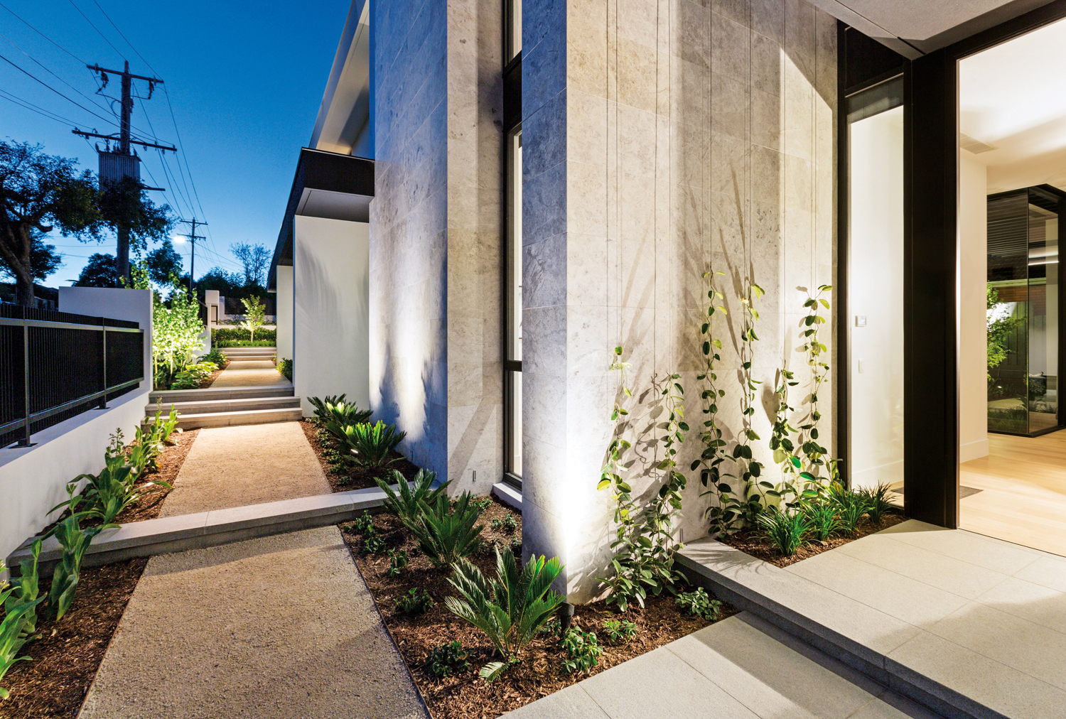 This modern formal garden looks great from every angle