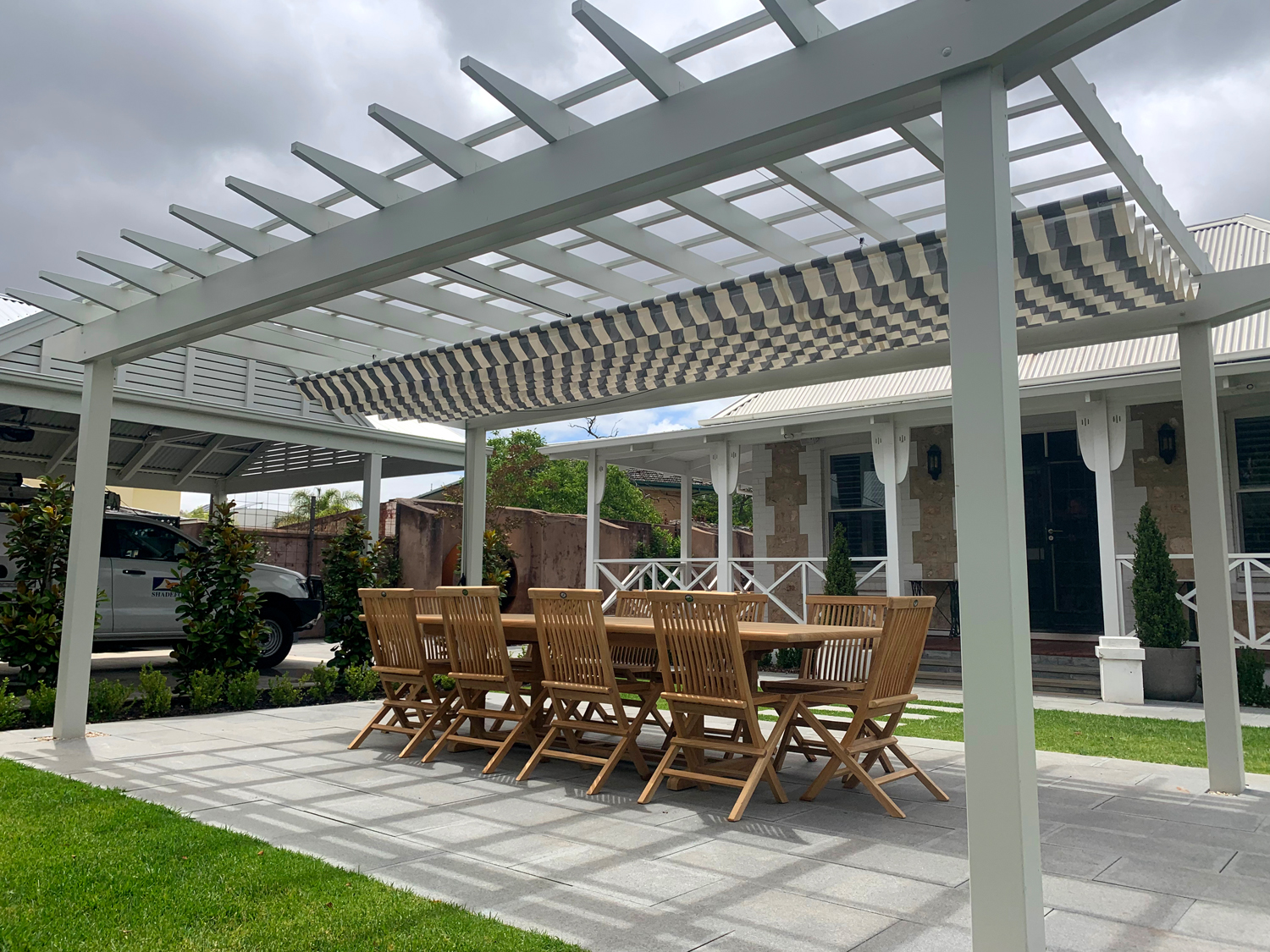 Contemporary shade for a traditional setting: Walkerville project