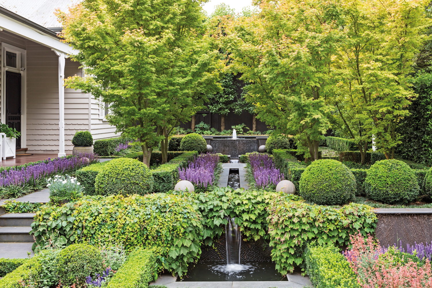 Serene and Green: a formal period-home garden