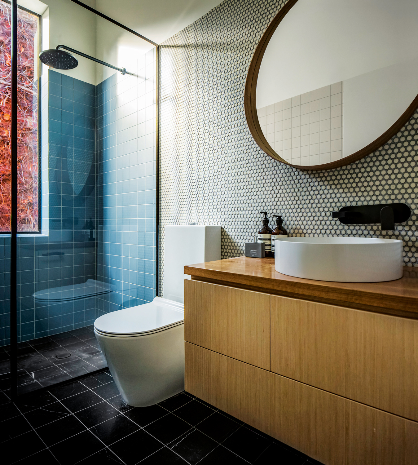 2 stylish bathroom designs with luxurious fixtures