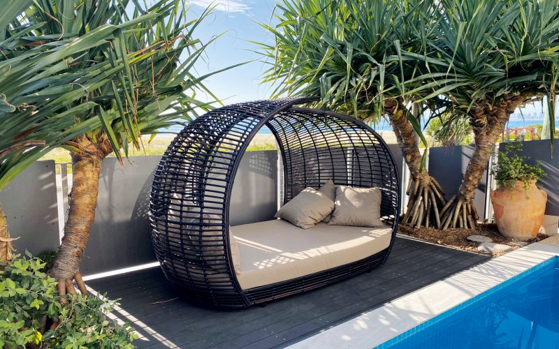 This handwoven artisan outdoor furniture is the ultimate in comfort and quality