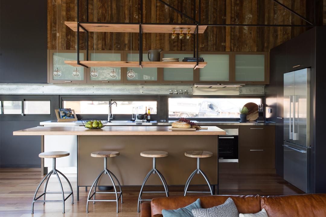 Kitchen of Clifftop at Hepburn Evoke solar accommodation