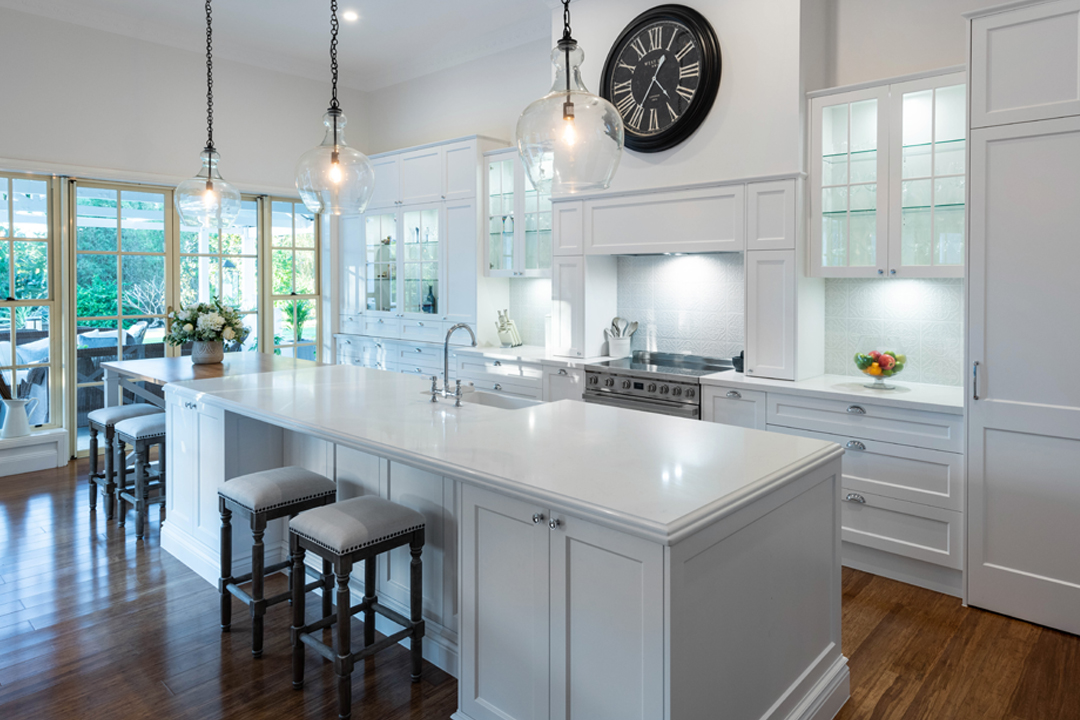 A grand kitchen with room to gather