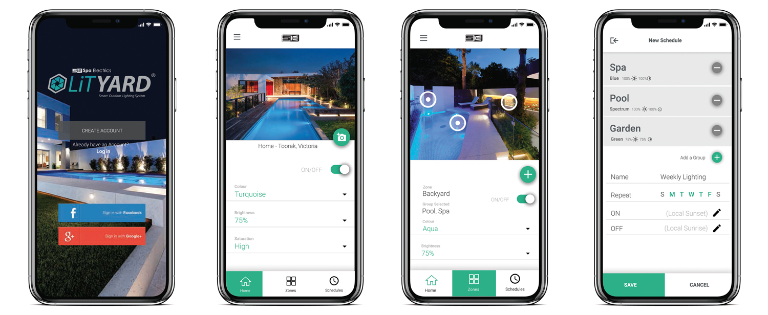 This Wi-Fi controller integrates with your swimming pool lighting to get the perfect look