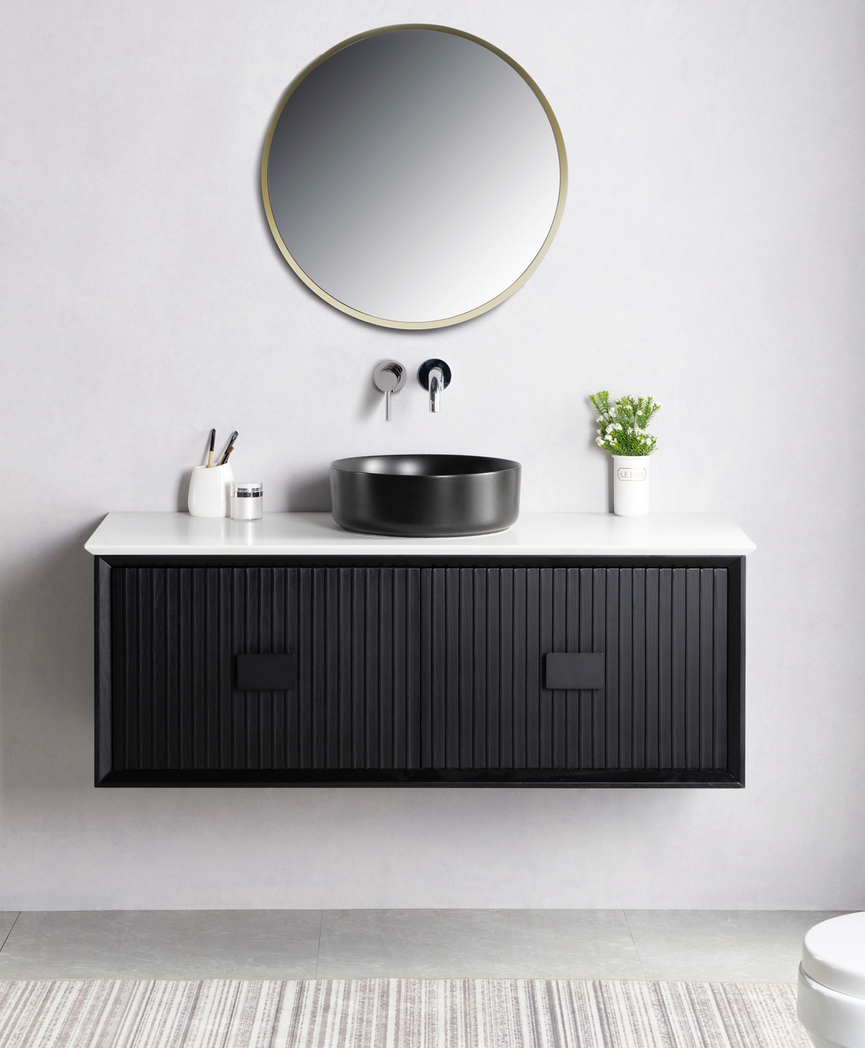 Stylish wall-hung vanities for a clutter-free bathroom
