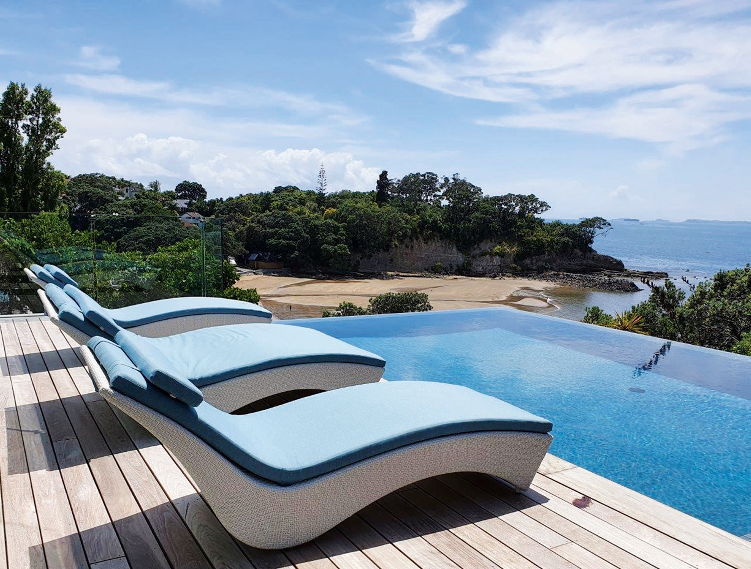 This handwoven artisan outdoor furniture offers the best in comfort and style
