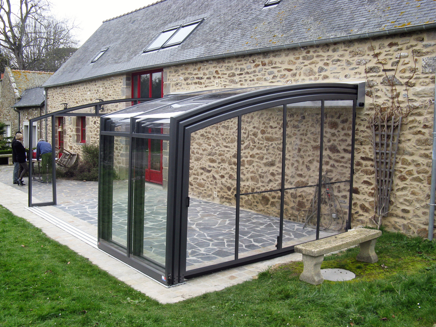 Bring the indoors out with a retractable terrace Enclosure