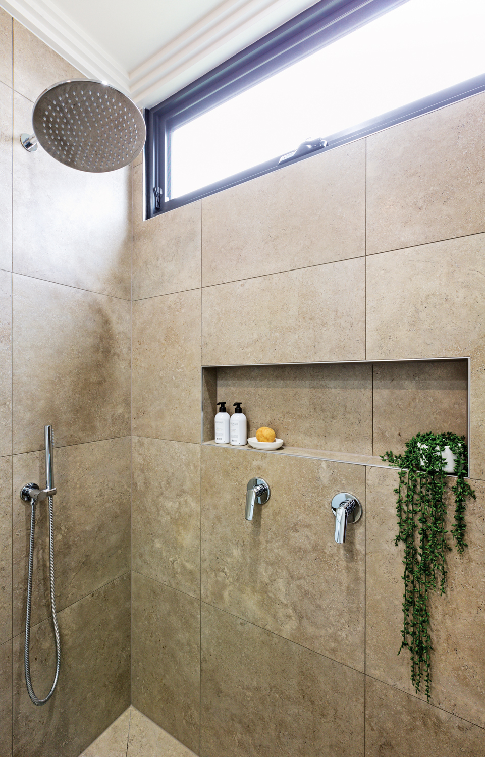 This luxurious spa-style bathroom is a modern masterpiece