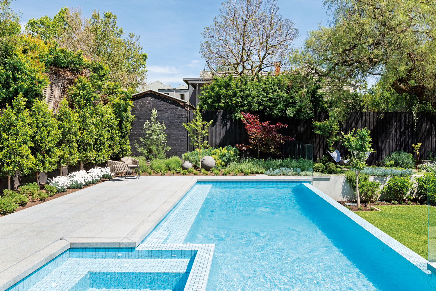 This Melbourne pool and landscape is the perfect urban oasis