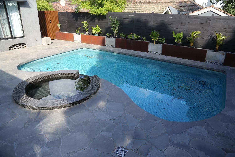 random pavers pools
