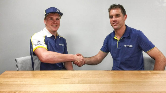 DANIEL SANDERS SIGNS WITH HUSQVARNA AUSTRALIA