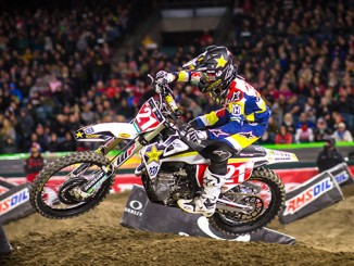 Anderson's podium finish extends his points lead in 450 rider point standings_