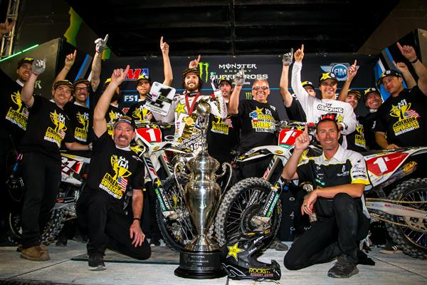 Double Supercross Championships For The Rockstar Energy Husqvarna Factory Racing Team! (photo Simon Cudby)