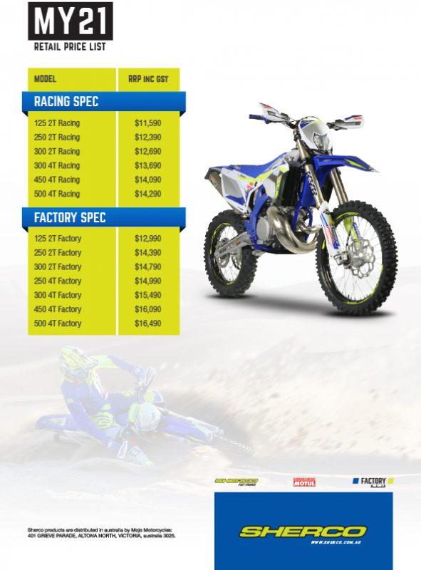 02 Sherco Pricelist Retail Au D1