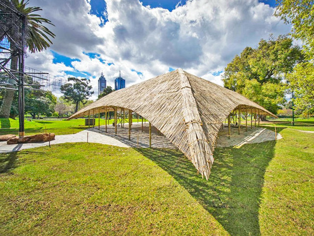 A Large Pavilion Made From Seven Kilometers Of Bamboo Just Opened In  Melbourneu0027s Queen Victoria Gardens. Designed By Indian Architect Bijoy Jain  Of Studio ...