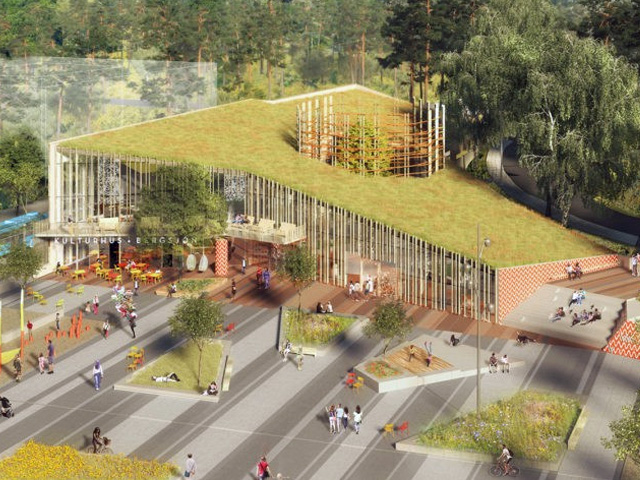 Green roof integrates with environs project ods - Exterior water service line coverage ...