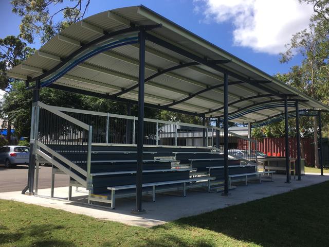 Grandstand Designs : Grandstand uplifts community project ods