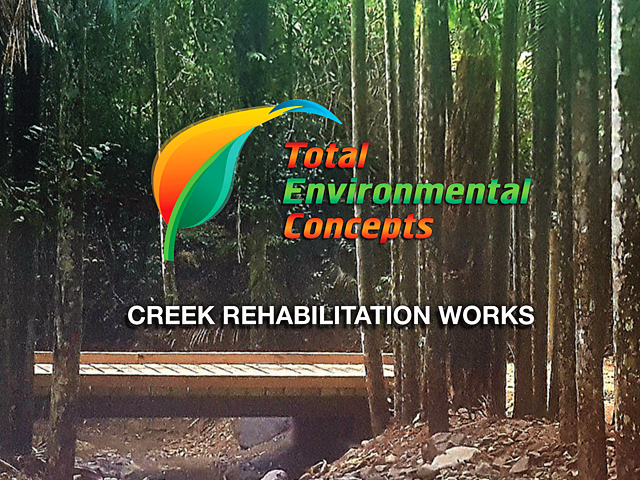 Total Environmental Concepts, creek rehabilitation, services