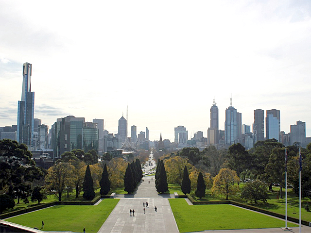 Greening the City, Melbourne, City, Trees, Melbourne Park, cityscape