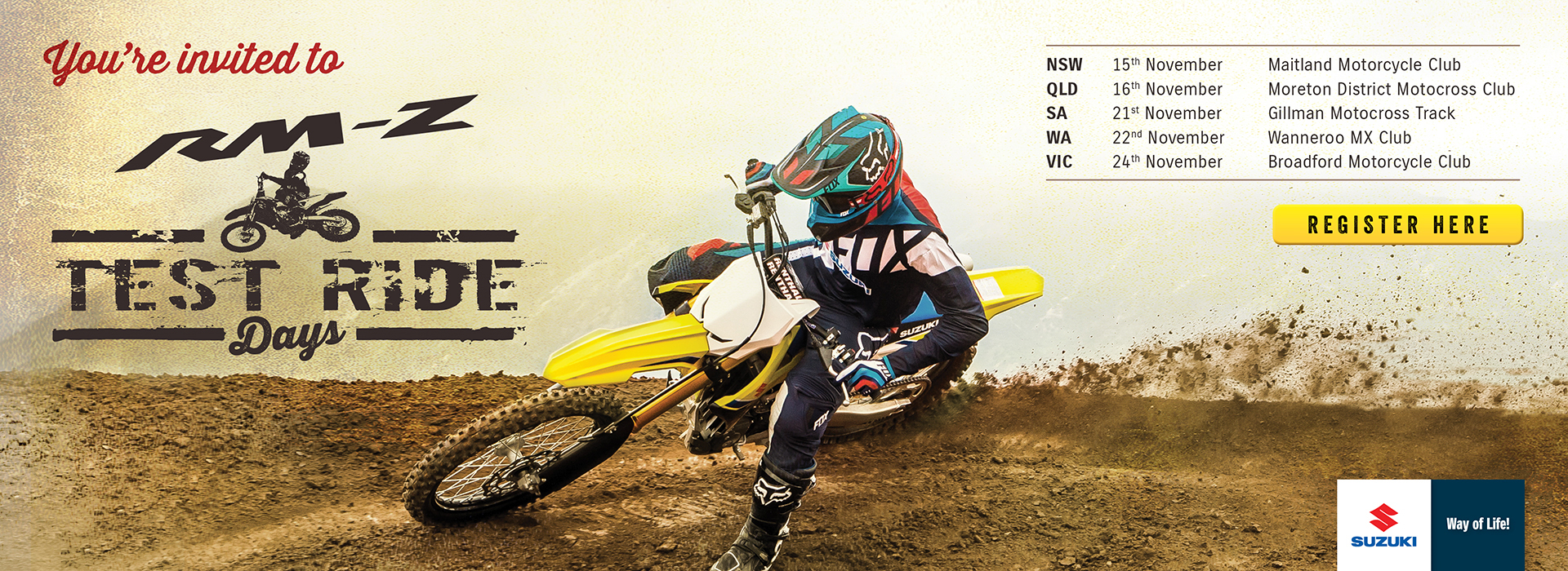 Suzuki RM-Z Ride Days artwork.