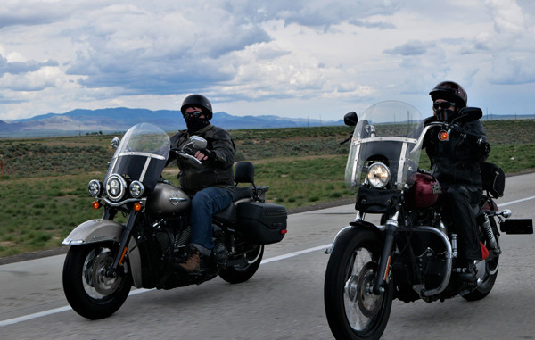 Australians riding a rental motorcycle in the USA
