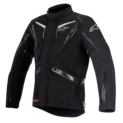 A four-season jacket incorporating a removable long-sleeve thermal liner and vents means you can wear the Yokohama all year round. It's built using laminated construction and features removable shoulder and elbow protectors and the ability to upgrade to Alpinestars' Nucleon chest and back protectors. The Yokohama allows the rider to cope with the toughest of conditions. It includes waterproof pockets, internal  waist connection zipper for pants and high levels of crash protection.