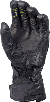 "An intermediate-weight glove designed for multi-season use, perfect for riders with heated handgrips in winter. There's a waterproof Raintex breathable membrane and moisture ""exhaust"" in the cuff for drainage. The Talon has a soft TPR knuckle protector and reinforced leather on the palm, and a visor wipe on the left index finger. It also features ""touch tips"" in fingertips for smartphone operation."