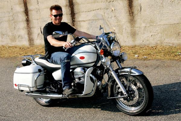 Obi-wan on a Moto Guzzi