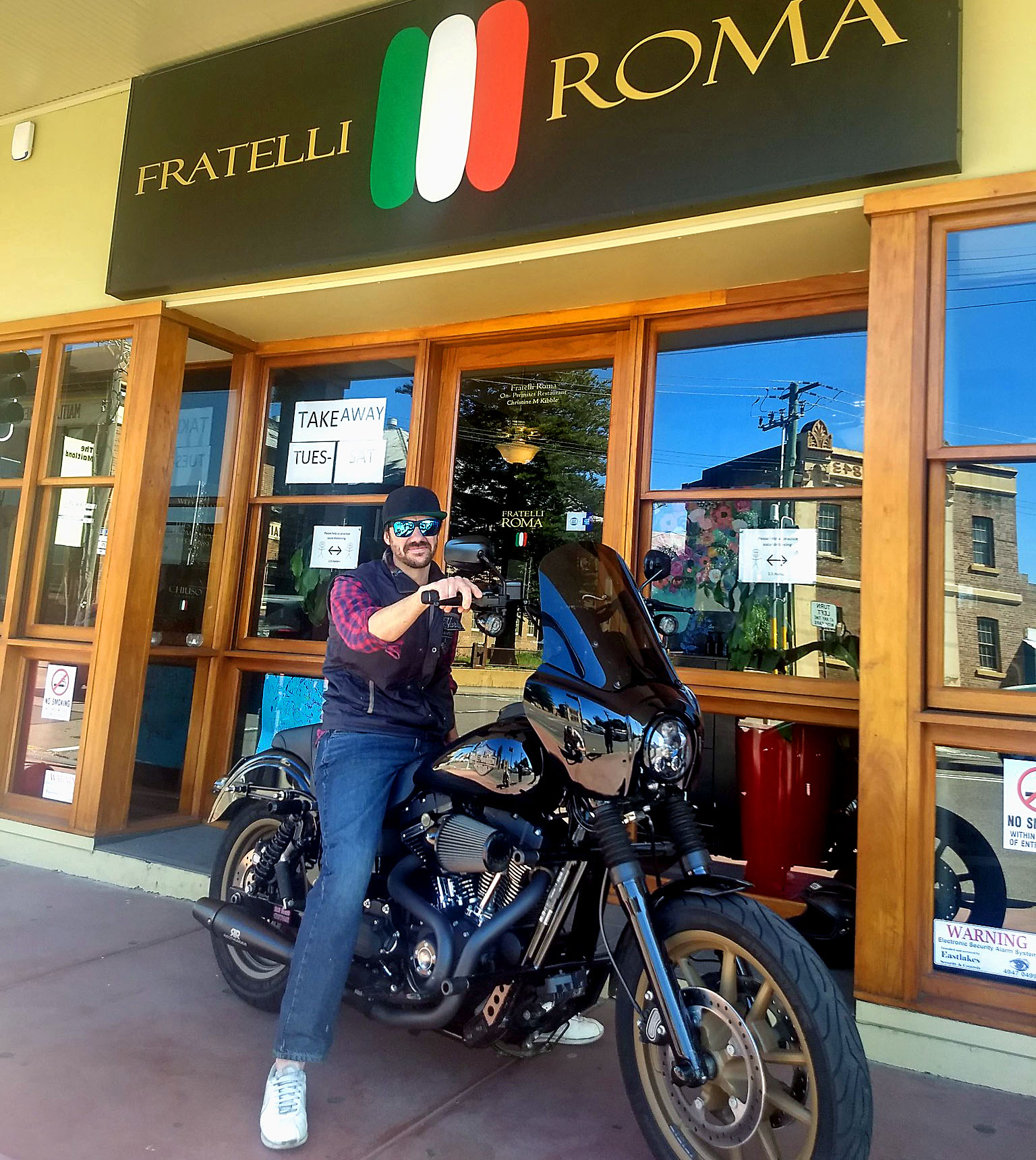 Chef Dan loves to ride and cook great Italian meals at Fratelli Roma (R Eime)