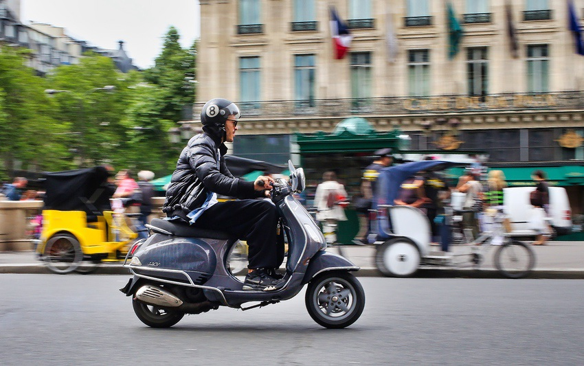 Looking cool while getting around Paris.