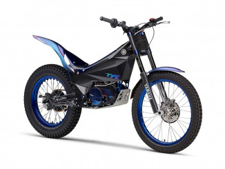 A electric trials bike from Yamaha… future models may have swappable batteries.