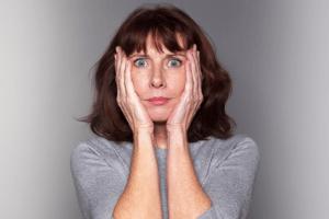 Woman under shock