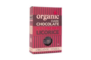 Organic Times Dark Chocolate Raspberry Licorice
