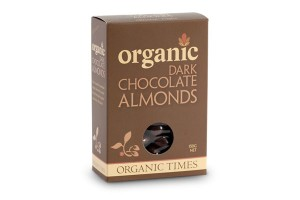 Organic Times Dark Chocolate Almonds