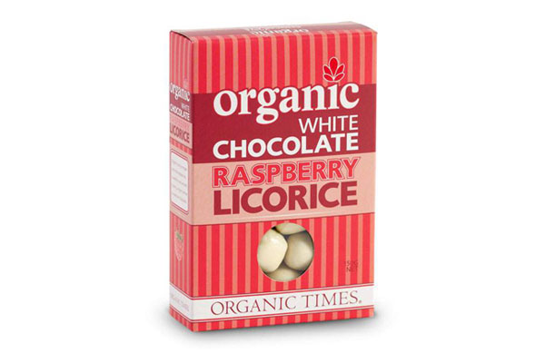 Organic Times White Chocolate Raspberry Licorice