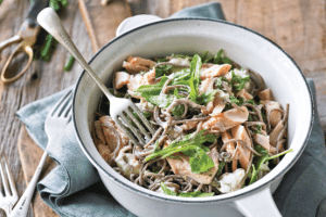 Lee Holmes' Buckwheat Pasta with Flaked Trout