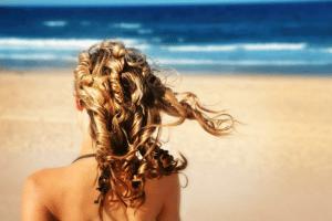 Hair ocean woman beach