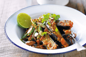 Lee Holmes' Eggplant and Green Bean Curry