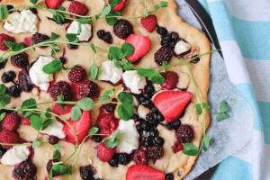 Meg Thompson's Roasted Summer Berry Pizza