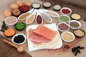 Range of protein foods