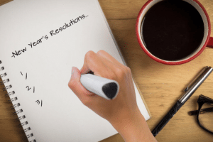 Writing down resolutions for the new year