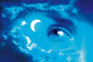 Cosmic star moon sky eye astrology zodiac