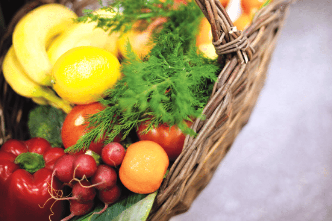 Fruit hamper vegies market basket
